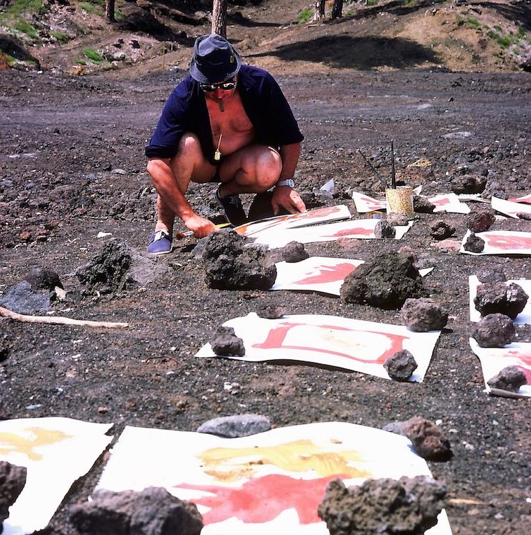Expédition et travail sur l'Etna 1972