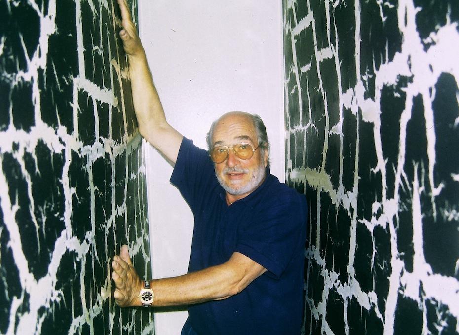 André Bucher a maîtrisé la technique du craquelé sur des tableaux gigantesques 1994
