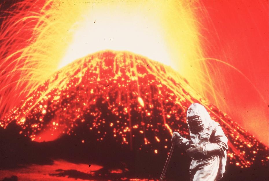 André Bucher sur l'Etna 1976
