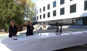 André Bucher, Inauguration de la sculpture Dynamique Ancestrale, au Muséum de Genève le 1er octobre 2014